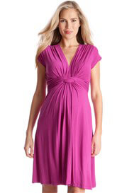 Queen Bee Fuchsia Pink Knot Front Maternity Dress by Seraphine