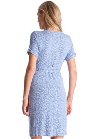 Queen Bee Renata Baby Blue Polkadot Maternity Dress by Seraphine