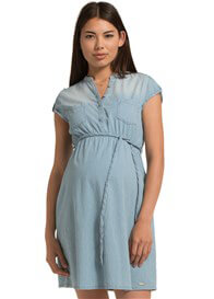 Queen Bee Casual Blue Denim Maternity Dress by Esprit