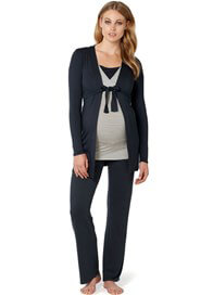 Queen Bee Ninette Jersey Maternity Pants in Dark Blue by Noppies
