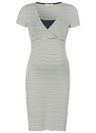 Queen Bee Susa Maternity Nursing Dress in Dark Blue Stripe by Noppies