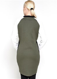 Queen Bee Mara Colourblock Maternity Dress in Olive by Imanimo