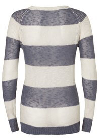 Queen Bee Jacy Maternity Knit Jumper in Grey Stripes by Noppies