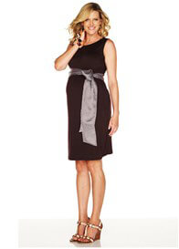 Queen Bee Overtime Black Maternity Shift Dress by Trimester Clothing