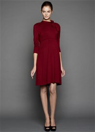 Queen Bee Estelle Maternity Nursing Dress in Wine Red by Dote Nursingwear