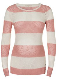 Queen Bee Jacy Maternity Knit Jumper in Pink Stripes by Noppies