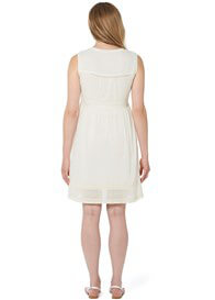 Queen Bee Beautiful Cotton Maternity Dress in Off-White by Noppies