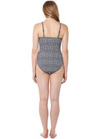 Queen Bee Lyn Maternity One Piece Swimsuit in Blue Print by Noppies