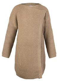 Queen Bee Glitter Knit Maternity Cardigan in Camel by Queen mum
