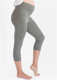 Queen Bee Convertible Maternity Active Capri Pant in Grey by Belabumbum