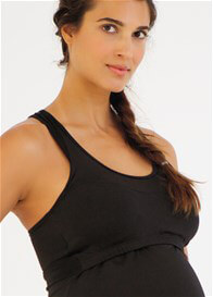 Queen Bee Maternity Nursing Racerback Active Tank in Black by Belabumbum