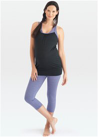 Queen Bee Room to Flow Maternity Nursing Cami in Black/Lilac by Belabumbum