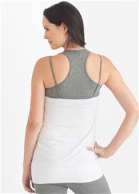 Queen Bee Room to Flow Maternity Nursing Cami in White/Grey by Belabumbum