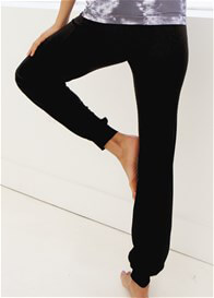 Queen Bee Yoga Jogger Maternity Pant in Black by Belabumbum