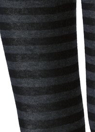 Queen Bee Black Striped Knit Maternity Tights by Queen Bee