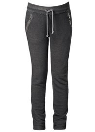 Queen Bee Dark Grey Raw Edge Trim Maternity Sweat Pants by Supermom