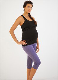 Queen Bee Convertible Maternity Active Capri Pant in Lilac by Belabumbum