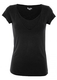 Queen Bee Milkizzy Lise Nursing Top in Black by Pomkin