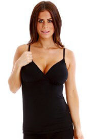 Queen Bee Nadia Maternity/Nursing Camisole in Black by QueenBee