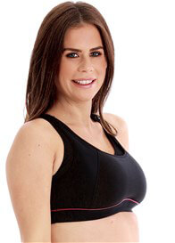 Queen Bee Maternity Nursing Sports Bra in Black by La Leche League