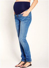 Queen Bee Light Wash Full Panel Skinny Maternity Jeans by Esprit
