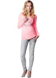 Queen Bee Geke Grey Skinny Maternity Jeans by Supermom