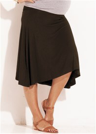 Queen Bee Obsession Jersey Maternity Skirt in Brown by Trimester Clothing
