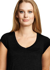 Queen Bee Urban V-Neck Maternity Tunic in Black by Maternal America