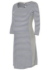Queen Bee Side Panel Maternity T-Shirt Dress in Blue Stripes by Esprit