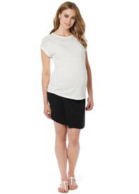 Queen Bee Dani Lace Insert Maternity Top in Off-White by Noppies