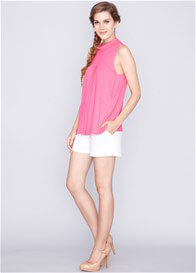 Queen Bee Trudy Bamboo Nursing Top in Fuchsia Pink by Dote Nursingwear
