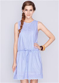 Queen Bee Sara Breastfeeding Dress in Blue by Dote Nursingwear