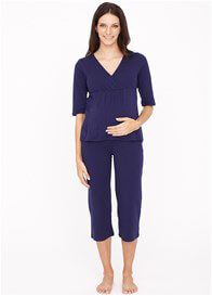 Queen Bee Navy Blue Maternity Nursing Pyjama Set by Dote Nursingwear