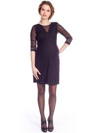 Queen Bee Elegant Black Lace Maternity Dress by Queen mum