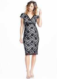 Queen Bee Pretty Black Lace Maternity Dress by Soon Maternity