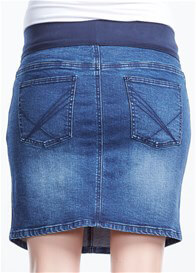 Queen Bee Vintage Blue Wash Maternity Denim Skirt by Soon Maternity