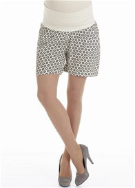 Queen Bee Circle Print Maternity Shorts by Queen mum