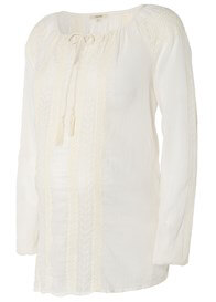 Queen Bee Gwyn Maternity Blouse in Off-White by Noppies
