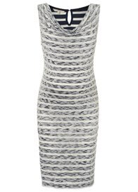 Queen Bee Hedi Blue Striped Slub Jersey Maternity Dress by Noppies
