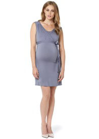 Queen Bee Lara Maternity Nursing Dress in Lavender Grey by Noppies