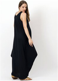 Queen Bee Story Of Maternity Maxi Dress in Black by Fillyboo