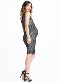 Queen Bee V-Back Lace Maternity Dress by Soon Maternity