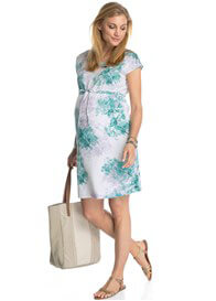 Queen Bee White Floral Maternity Tea Dress by Esprit