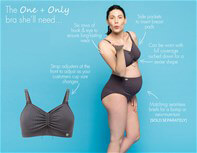 Queen Bee Pewter Spot One & Only Seamless Maternity Nursing Bra by Amoralia