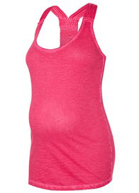 Queen Bee Kath Racerback Maternity Tank Top in Pink by Noppies