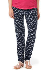 Queen Bee Jett Blue Print Casual Maternity Pants by Noppies