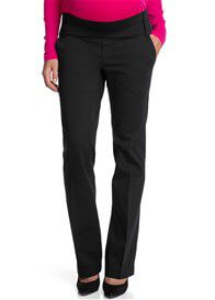 Queen Bee Black Straight Leg Maternity Trousers by Esprit