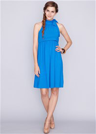 Queen Bee Cheryl Bamboo Maternity Nursing Dress in Blue by Dote Nursingwear