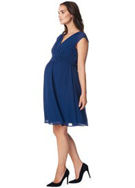 Queen Bee Liane Cap Sleeve Chiffon Maternity Dress in Blue by Noppies