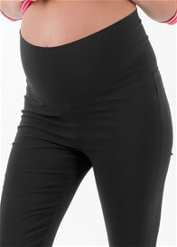 Queen Bee Aidan Black Maternity Capri Pants by Floressa